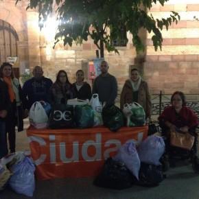 Ciudadanos Andújar y Marmolejo organizan recogida de ropa y alimentos para las personas más desfavorecidas