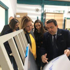Mónica Moreno y Marián Adán apuestan por el polígono de Torredonjimeno como foco industrial de la provincia