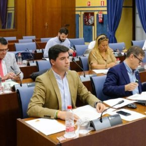 Enrique Moreno lleva al Parlamento de Andalucía la recuperación del anfiteatro romano de Obulco (Porcuna)